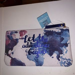 Let the adventure begin wristlet
